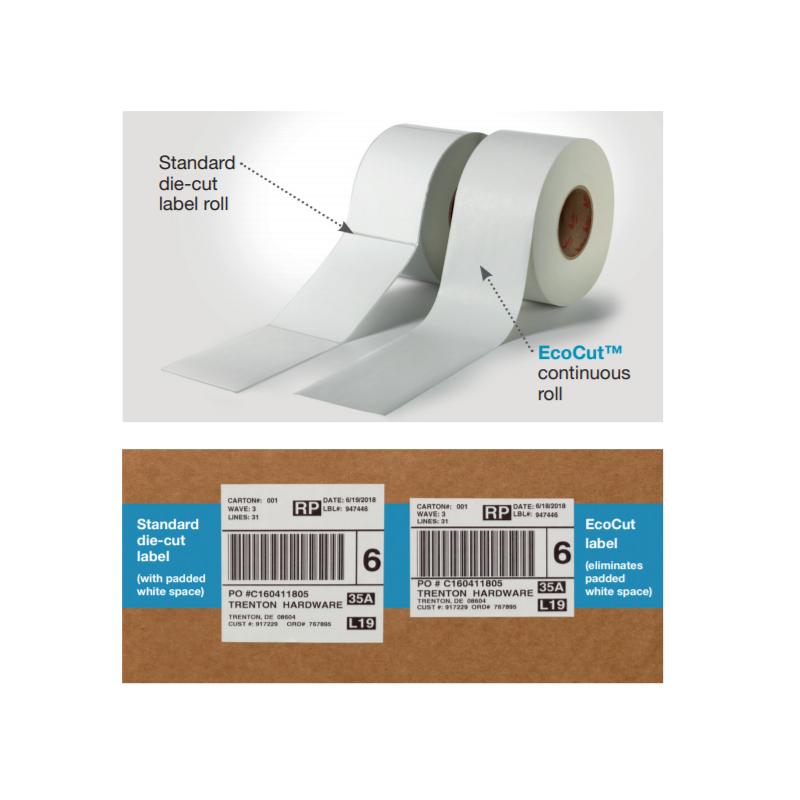 Kit stampa TT per Ecocut (3 rotoli etichette + 1 rotolo ribbon)